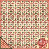 Бумага городецкая роспись - цветы, коллекция Русское ассорти