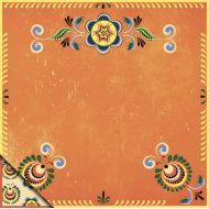 Бумага шенкурская роспись - оранжевый орнамент