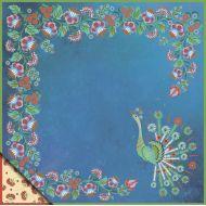 Бумага петриковская роспись - павлин, коллекция Русское ассорти