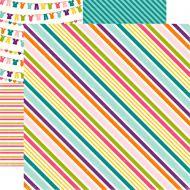 Бумага Suzy Stripe, коллекция Little Girl