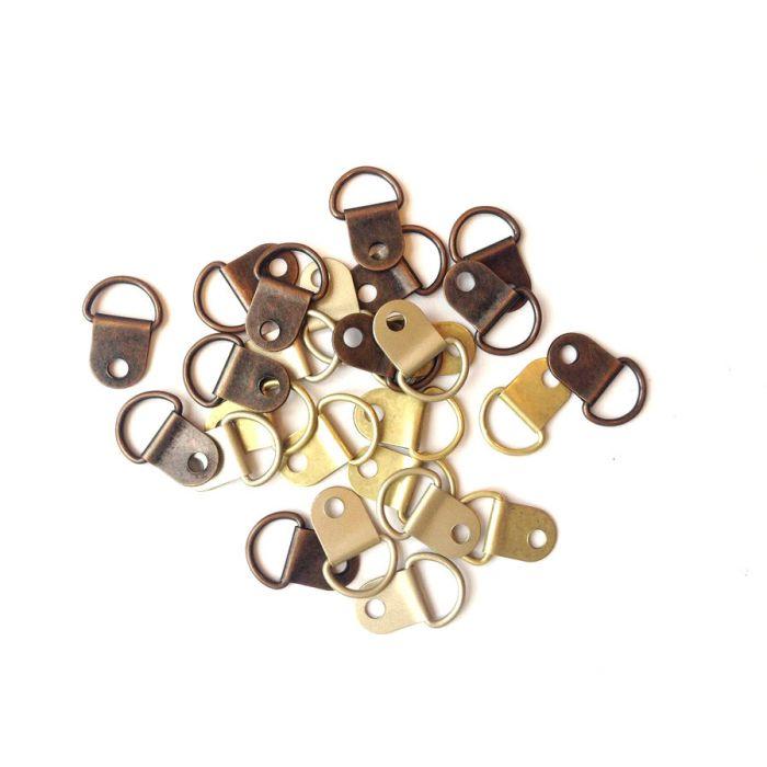 Набор металлических петелек Antique Round для скрапбукинга