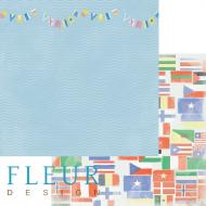 Бумага флаги, коллекция морская прогулка