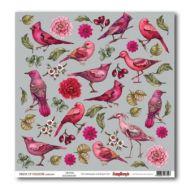 Бумага щебет птиц, коллекция райские птицы