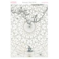 Калька cтаринная морская карта