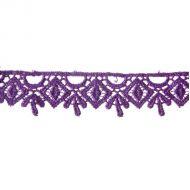 Кружево гипюр фиолетовое