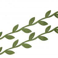 Лента листочки тёмно-зеленые