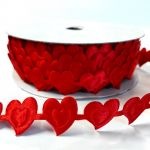 Лента сердца красные 20мм