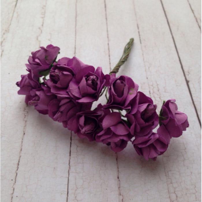 Набор розочек фиолетовые для скрапбукинга