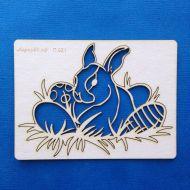 Пасхальная композиция с кроликом