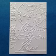Почтовая карточка, тисненый картон