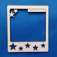 Полароидная рамка со звездами