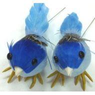 Птички голубые 7см