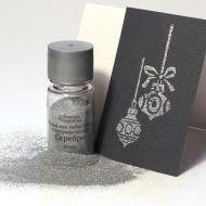 Пудра для эмбоссинга голографическая серебро 10 мл