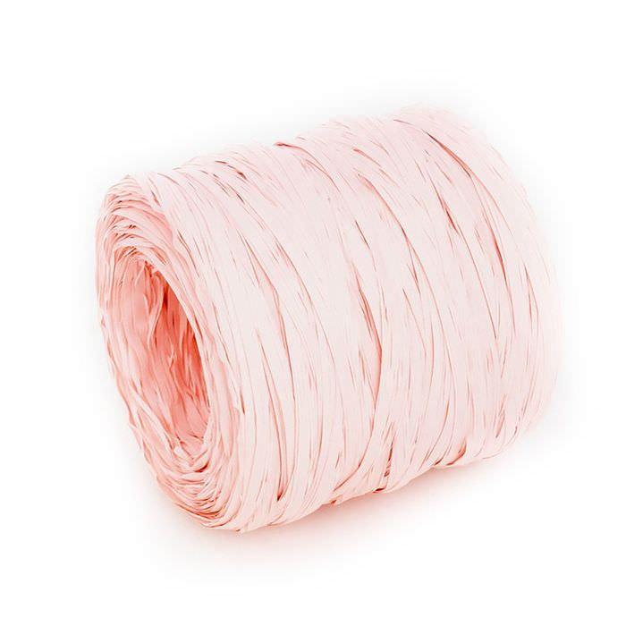 Рафия бледно розовая для скрапбукинга