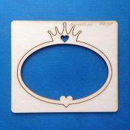 Рамка овальная с короной