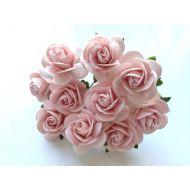 Розы бледно-розовые, 25 мм
