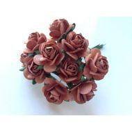 Розы кофейно-коричневые 20 мм
