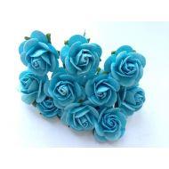 Розы светло-бирюзового цвета, 20 мм
