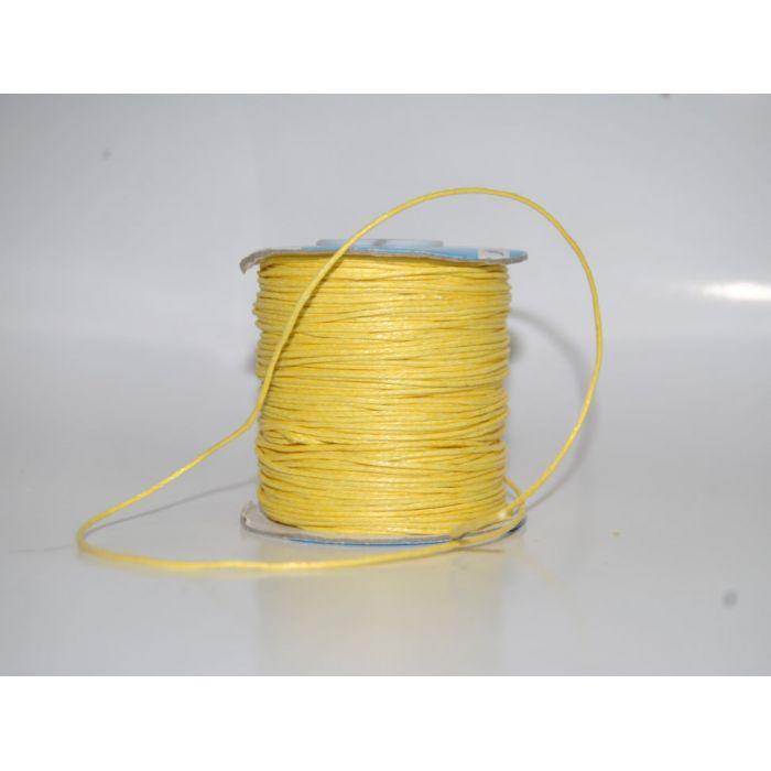 Жёлтый вощёный шнур для скрапбукинга
