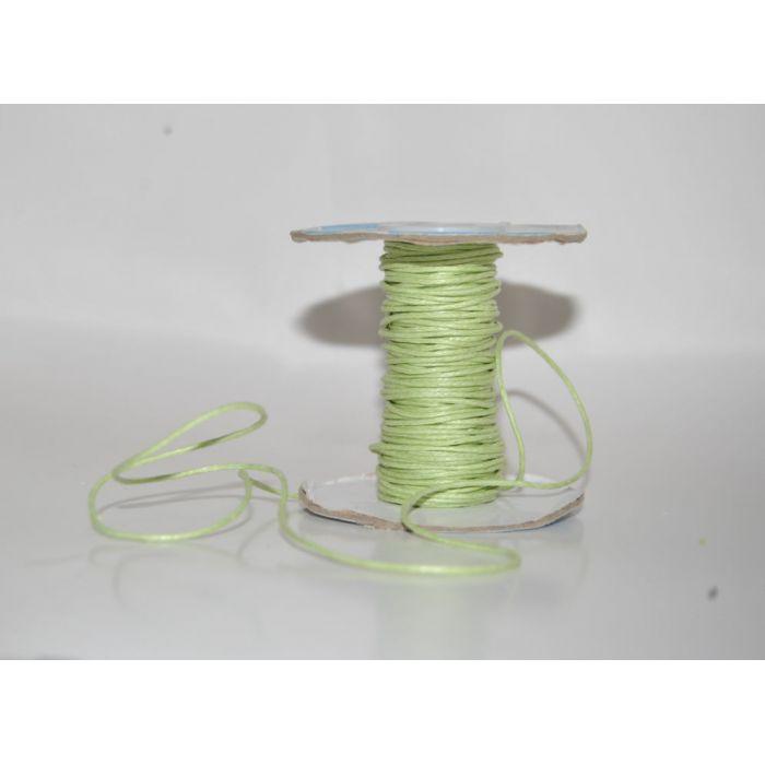 Светло-зелёный вощёный шнур для скрапбукинга
