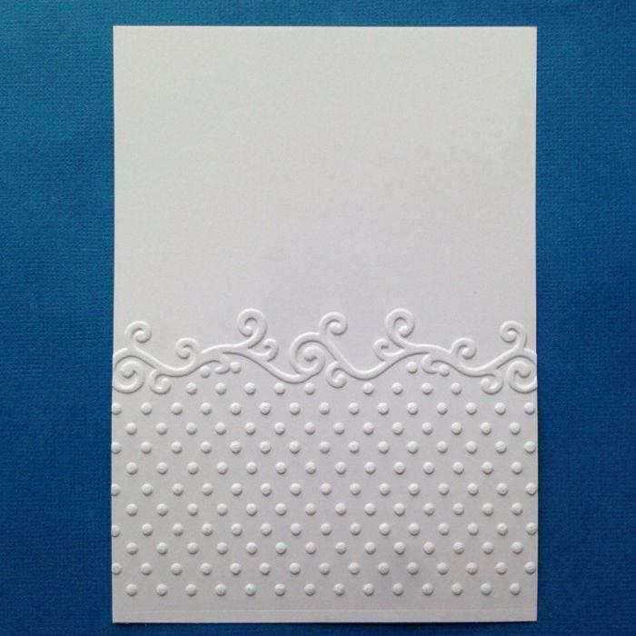 Точки с бордюром, тисненый картон для скрапбукинга