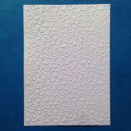 Завитки с листочками, тисненый картон